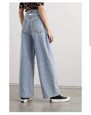 GANNI high-rise wide-leg jeans Size 28 £225 Net A Porter