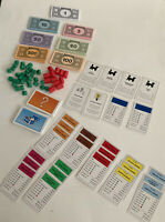 28 Monopoly Property Cards, Money, Community Chest & Chance Cards, & Houses