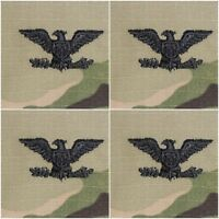 """4 Pack US Army Multicam 2"""" x 2"""" Sew-On Colonel Rank Patches - 4 Pair"""