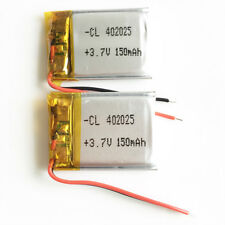 2pcs 3.7V 150mAh LiPo rechargeable Battery cells For Mp3 Bluetooth camera 402025