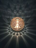Vintage Fostoria Early American Glass Globe Candle Holder Fairy Lamp Light