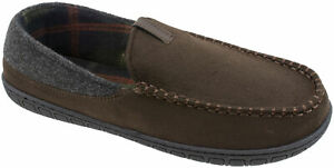 George Men's Chocolate Brown or Taupe Venetian Moccasin Slip-on Slippers Shoes