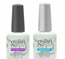 Gelish polish Top and Base coat Soak off LED UV Gel nail polish