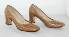 Vintage Aaron's Gepetto Lizard Reptile Skin Leather Heels Shoes - Size 6 1/2 Aa