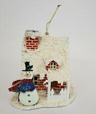 Vintage House Snowman Light Pendant Christmas Tree Ornament