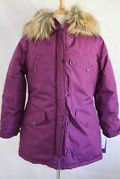 MADDEN GIRL Warm Knee Length 4 Pocket Removable Trim Parka Coat size L New