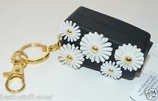 BATH BODY WORKS BLACK WHITE FLOWERS POCKET  BAC SANITIZER HOLDER KEYCHAIN NEW