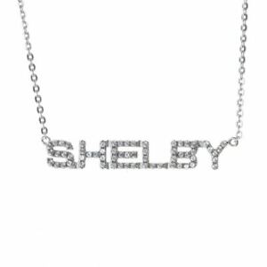 Necklace - Shelby Sterling Silver with Sapphires * GT350 GT500  Ships FREE To US