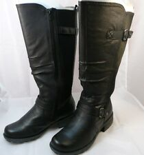 Genuine Leather Boots~Arch Support~Contour footbed~Lined~6.5 W~Wide Shaft~Earth