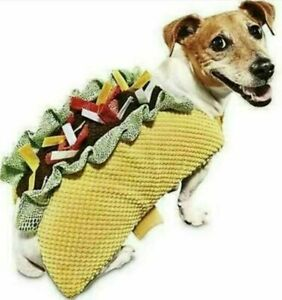 Bootique Dog Halloween Costume Taco Bout It Size Large 17-19 Inches