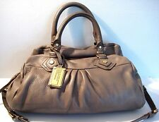Marc by Marc Jacobs Taupe 100% Leather Satchel Hobo Shoulder Purse Bag Tag Char