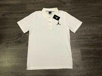 Nike Air Jordan Jumpman Team Dri-Fit Golf Polo Shirt White Mens New 865856-100
