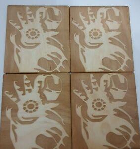 Iron man Coasters set of 4