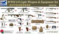 Bronco Model kit 1/35  #AB3558  WWII US Light Weapon & Equipment Set