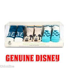Genuine Disney Mickey Mouse Socks Gift Set for Baby Boy - 3 Pair of Sock New