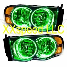 ORACLE Halo HEADLIGHTS Dodge Ram 02-05 GREEN LED Angel Demon Eyes
