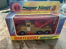 MATCHBOX, Super Kings, K-2 Scammel Heavy Wreck Truck, BOXED 1971 Made in England