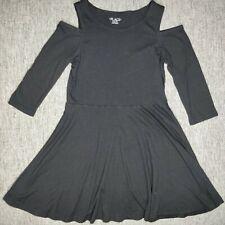 Dress Children's Place Size XL Girl Black Long Sleeve Open Shoulder