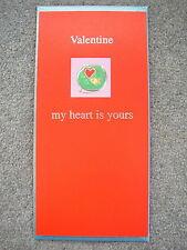 """Día de San Valentín Tarjeta Goldfish en tazón de fuente """"mi corazón es tuyo por siempre"""" para siempre amor"""