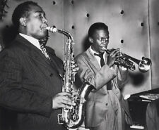 William GOTTLIEB: Charlie Parker & Miles Davis, NYC, 1947 / Silver Prt / SIGNED!