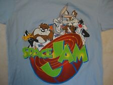 Warner Brothers Looney Tunes Space Jam Movie Throwback Fan Blue T Shirt Size S