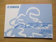 Manual del propietario Yamaha FZ6 - SHG SAHG (4S8) Fazer Fahrerhandbuch