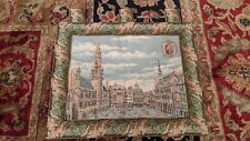 """Brussels Belgian Tapestry Grote Markt (Grand Place) 22"""" x 21"""""""