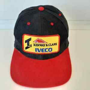Vintage Kenway and Clark Iveco Cap Hat Transport Farming Truckers Black Adult