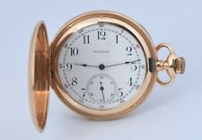 Antique 1899 Waltham SOLID 14K Yellow Gold Pocket Watch Grade 240 12s Hunter