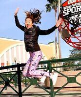 NWT Disney Parks Run Disney Princess Marathon Leggings Purple Women's M