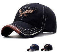 Mens Womens Word leather Hat Adjustable Snapback Trucker Golf Sport Baseball Cap