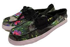 Sanuk Women's 11 Boat Shoes Loafers Tropical Sailaway Floral Shoes Surfer Flat