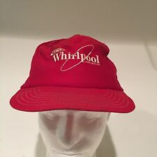 Vintage 80's 90's Rare Whirlpool Appliance Corp Hat Cap Trucker Snapback Red