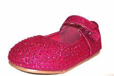 Girls Savannah Sparkle Glitter Shoes Fuchsia 9 Child UK