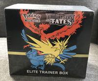 Hidden Fates Elite Trainer Box ETB Pokemon TCG NEW FACTORY SEALED