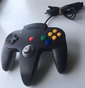 Nintendo 64 N64 Controller Black/Gray - AUTHENTIC - Loose Joystick, Works