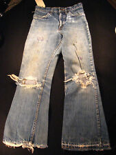 Vintage original 1960s LEVIS Big E Orange Tab 606 Mens Jeans 25 x 25 Talon Zip