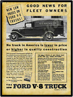 Ford Trucks New Metal Sign Ford COE PIE Next To IH COE Ryder Tractor Trailers