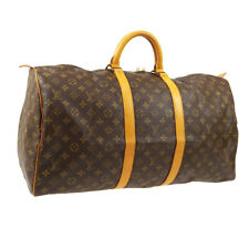 LOUIS VUITTON KEEPALL 55 TRAVEL HAND BAG PURSE MONOGRAM M41424 MI8902 A51350