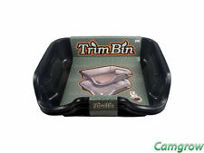 More details for trim bin - black trimming tray with mesh pollen sieve kief sifter screen
