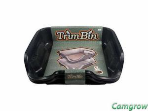 Trim Bin - Black Trimming Tray with Mesh Pollen Sieve Kief Sifter Screen