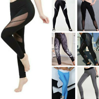 Women High Waist Yoga Leggings Pocket Fitness Sport Gym Workout Athletic Pants G