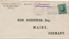 "USA SCHIFFSPOST 1891 Daniel Webster 10 C portogerechte EF mit S.S. ""La Gascogne"""