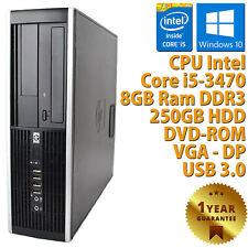 PC COMPUTER DESKTOP RICONDIZIONATO HP 8300 SFF CORE i5-3470 RAM 8GB HDD 250GB