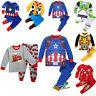 Marvel Cartoon Sleepwear Baby Kids Boys Girls Cotton Nightwear Pj's Pyjamas Set