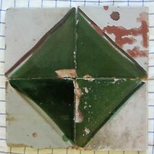 4 riggiole piastrelle mattonelle maioliche antiche Tiles 16,5x16,5 lotto721 198