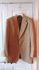 Gucci Tom Ford Tan Beige Khaki 2 Bt Notch Lapel Blazer Jacket 54 XL $1700