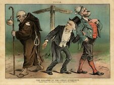 Irlanda Uncrowned King Irlandese Parnell Aiuta Gladstone Bismarck Turns A Papa