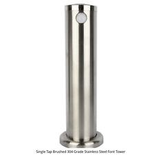 Kegland Single Tap Brushed Stainless Steel Font Faucet Tower Kegerator Beer