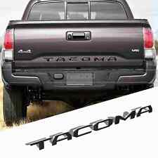 BLACK Tailgate Letters Insert 3D Plastic Sticker For TOYOTA TACOMA 2014-2018